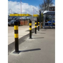 Hi-Vis Bollard Surface Mounted 139.7 X 1200mm