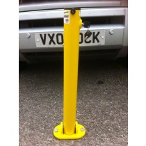 Hinged Integral Parking Post Yellow