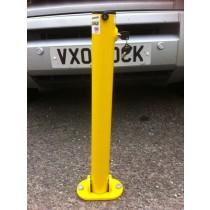 Hinged Integral Parking Post Yellow
