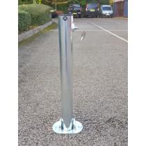 Hinged Integral Folding Parking Post (Surface Mounted)
