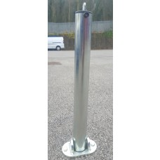 Hinged Padlock Folding Parking Post (Concrete In)