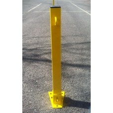 Yellow Padlock Parking Post Square