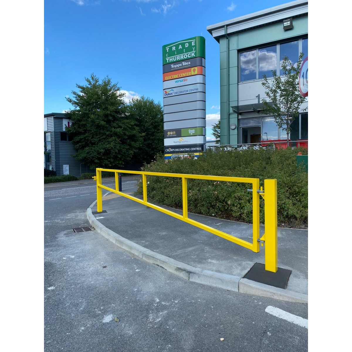 Double Leaf Access Gate Open