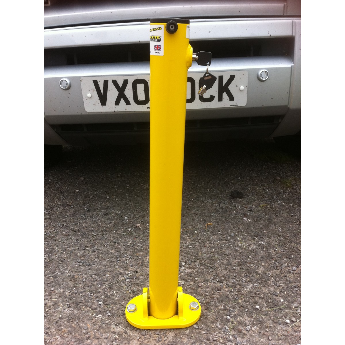 Yellow Folding Parking Post