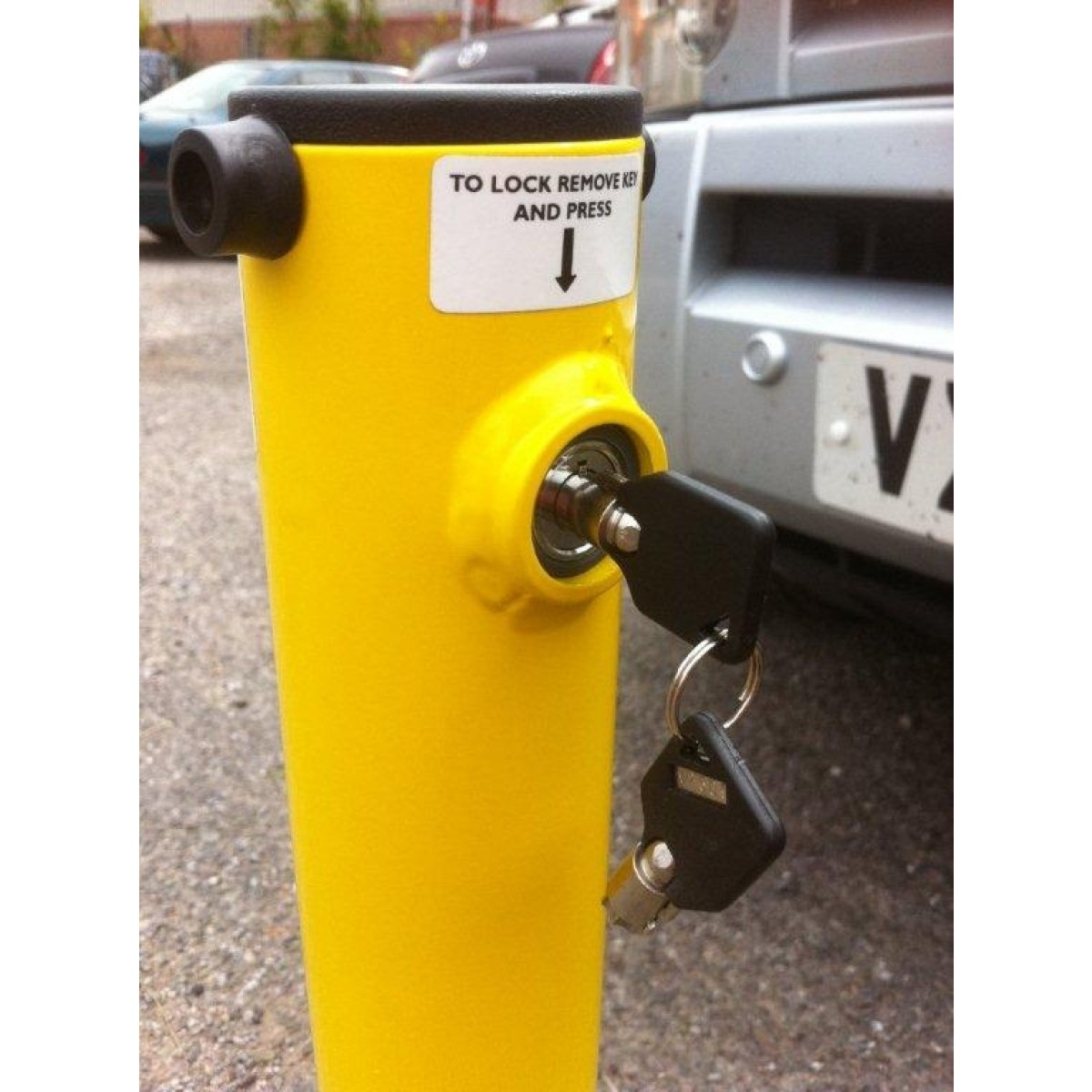 Integral Lock Parking Post